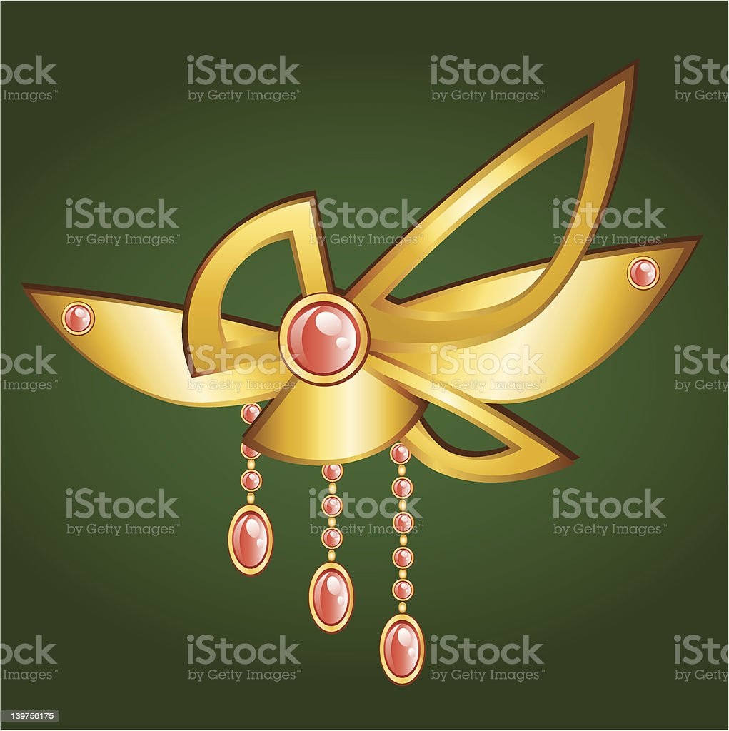 Golden Pendant royalty-free stock vector art