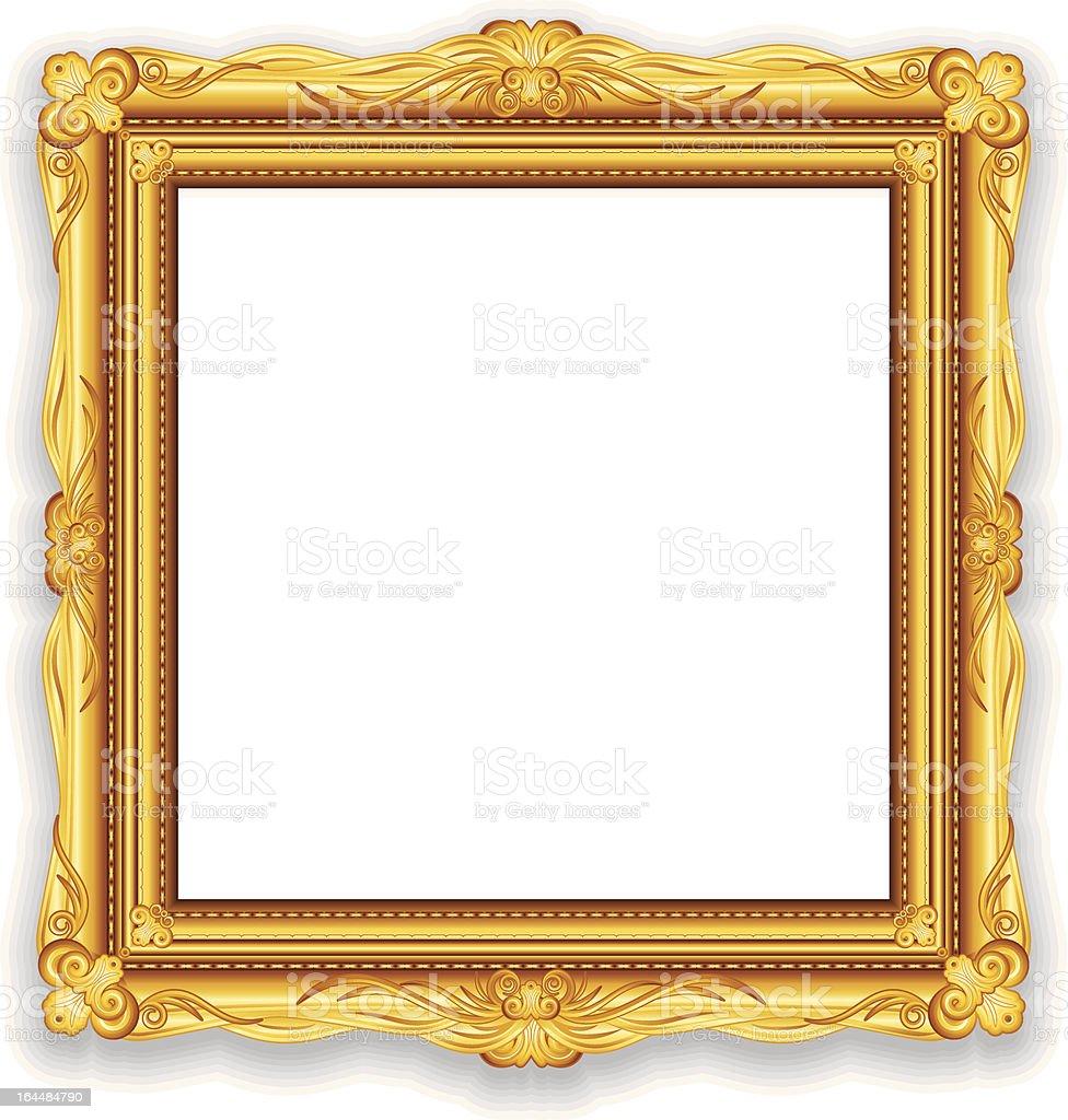 Golden Picture Frame Vector vector art illustration