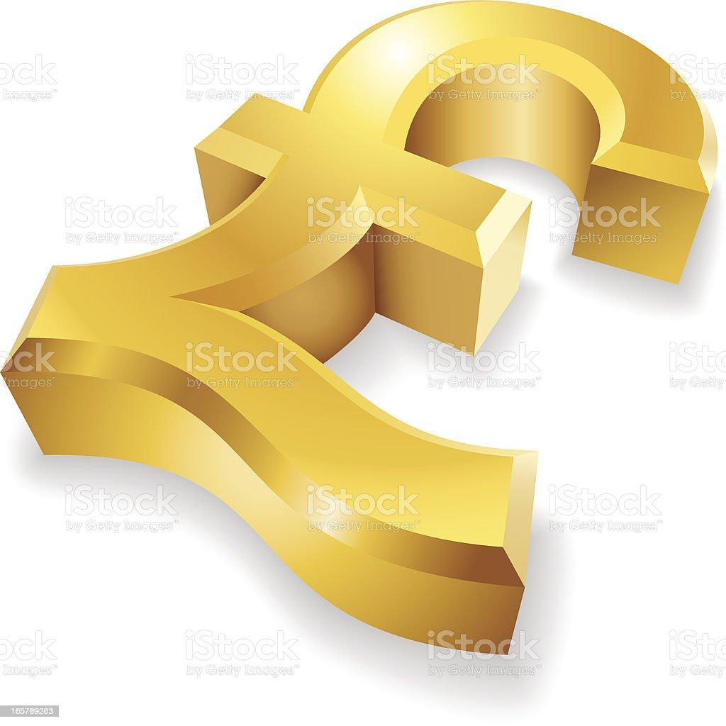 Golden Pound Symbol royalty-free stock vector art