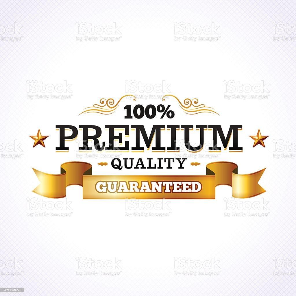 Golden Premium Quality royalty-free stock vector art