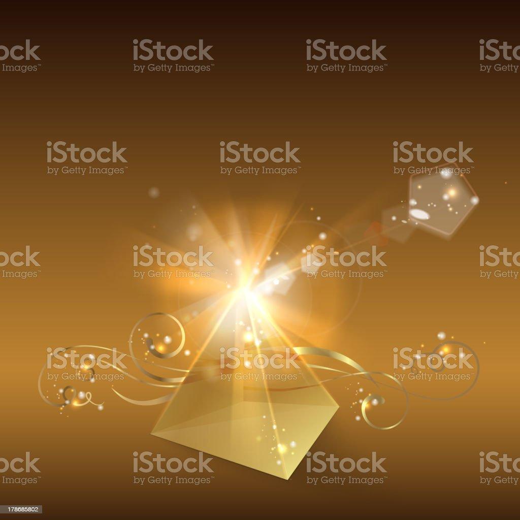 Golden pyramid. royalty-free stock vector art