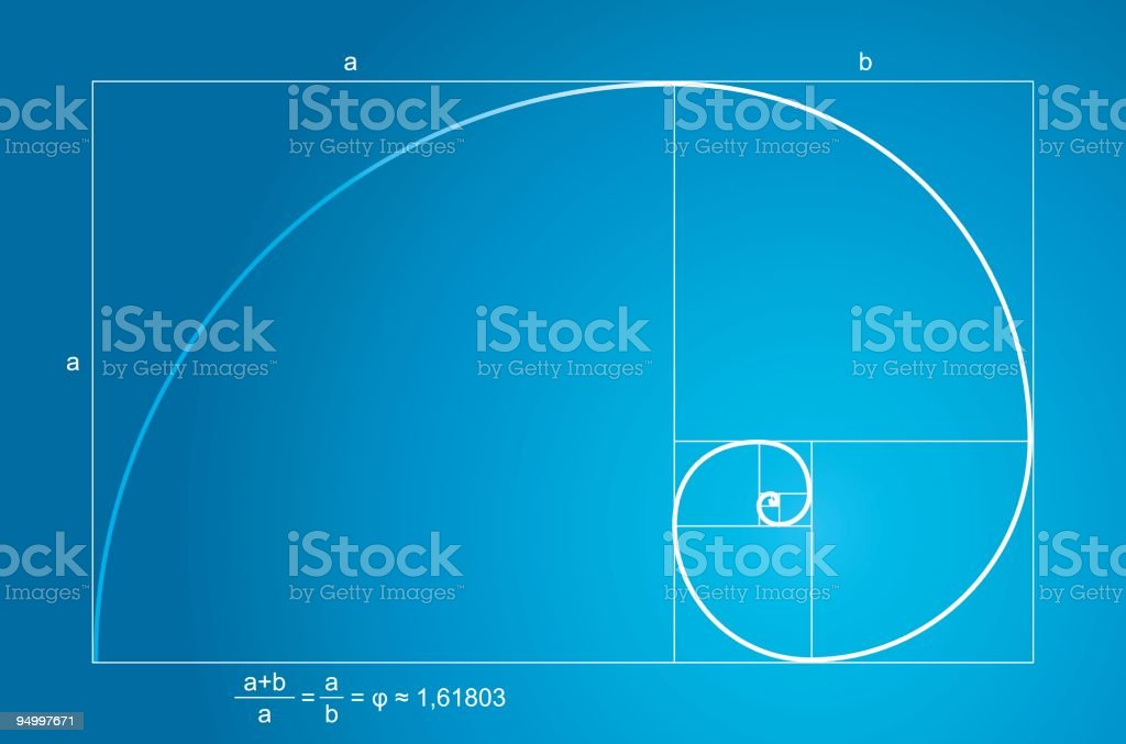 Golden ratio vector art illustration