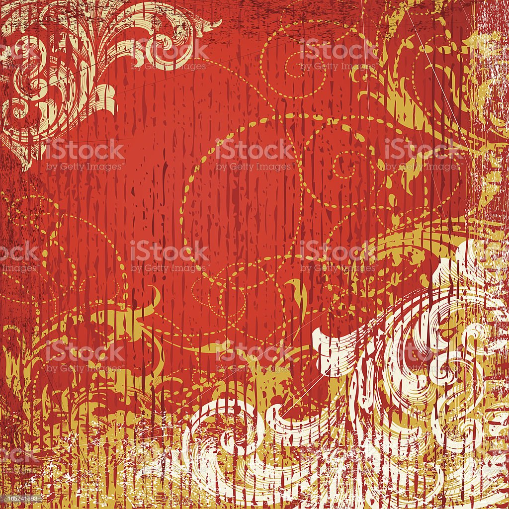 Golden Red Grunge Background royalty-free stock vector art