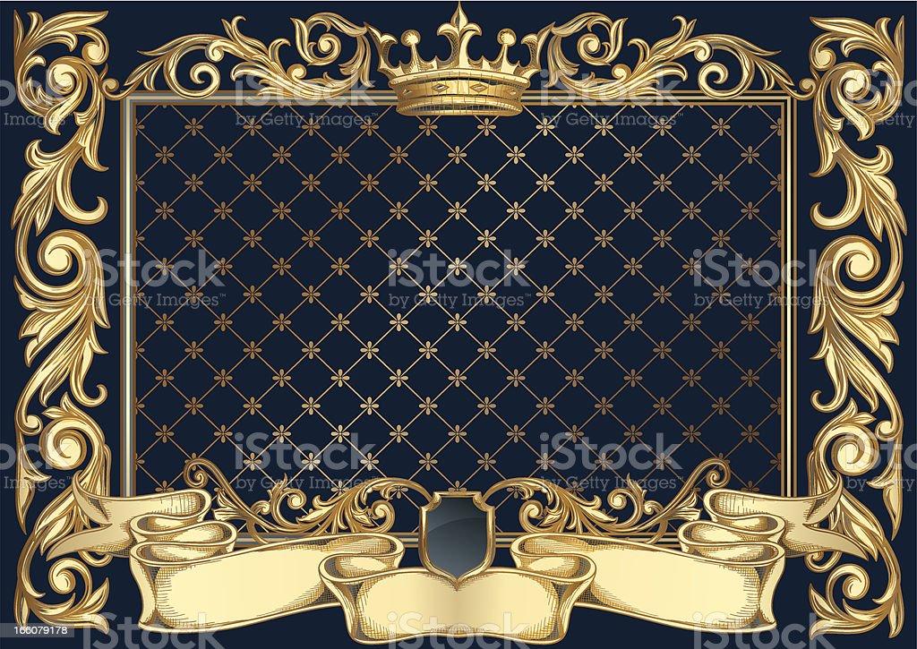 Golden retro frame royalty-free stock vector art
