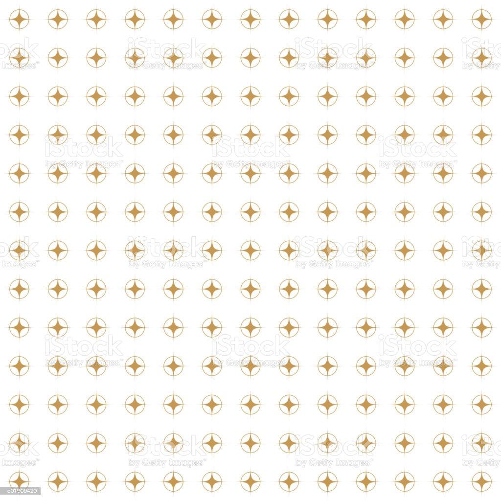 Golden Retro Pattern. Vector seamless background vector art illustration
