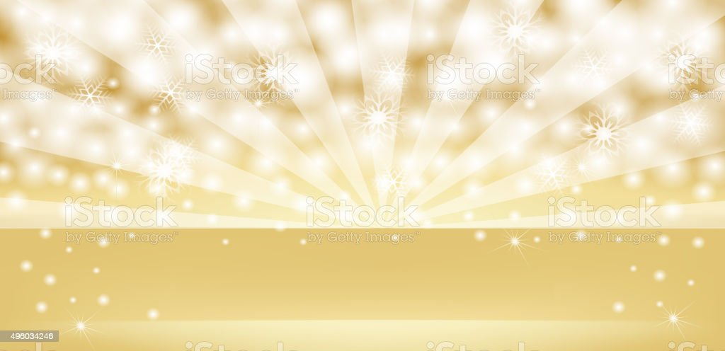 Golden retro shiny background banner vector art illustration