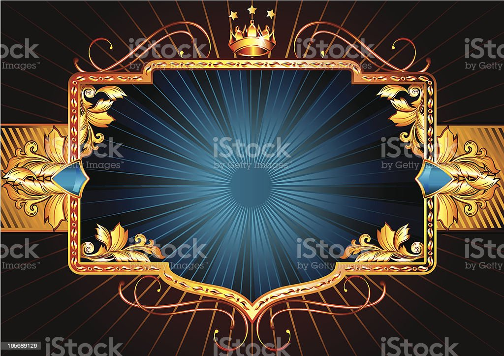 Golden retro royalty-free stock vector art