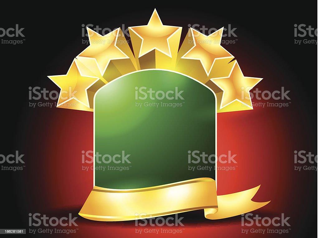 Golden Riibon with Star royalty-free stock vector art