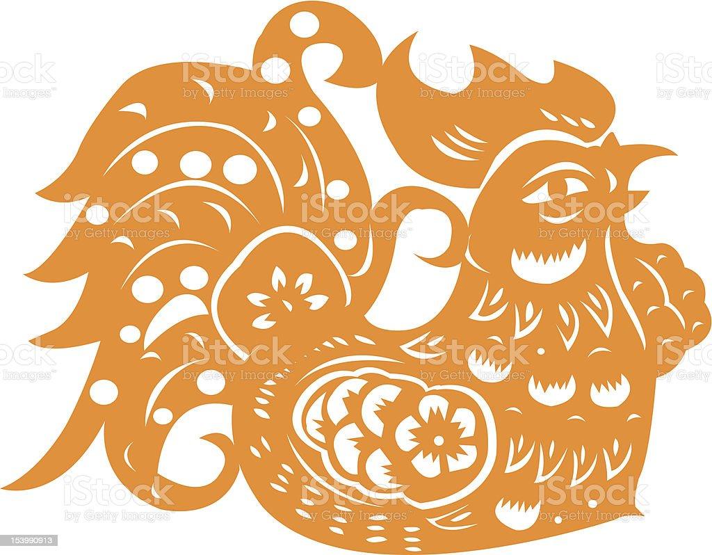 Golden Rooster royalty-free stock vector art