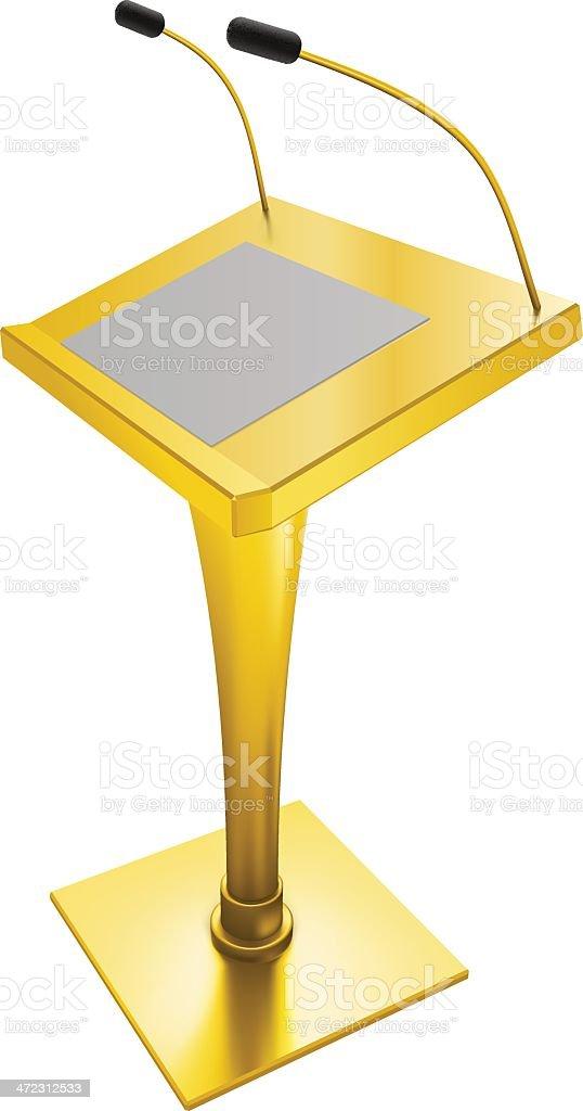 Golden Rostrum royalty-free stock vector art