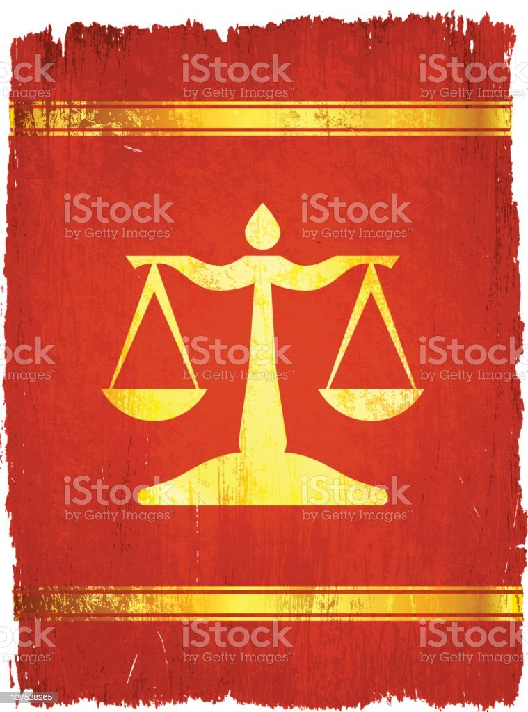 Golden scales of justice on royalty free vector Background royalty-free stock vector art