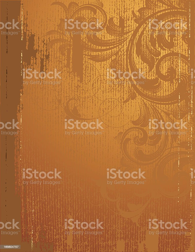 Golden Scroll Page royalty-free stock vector art