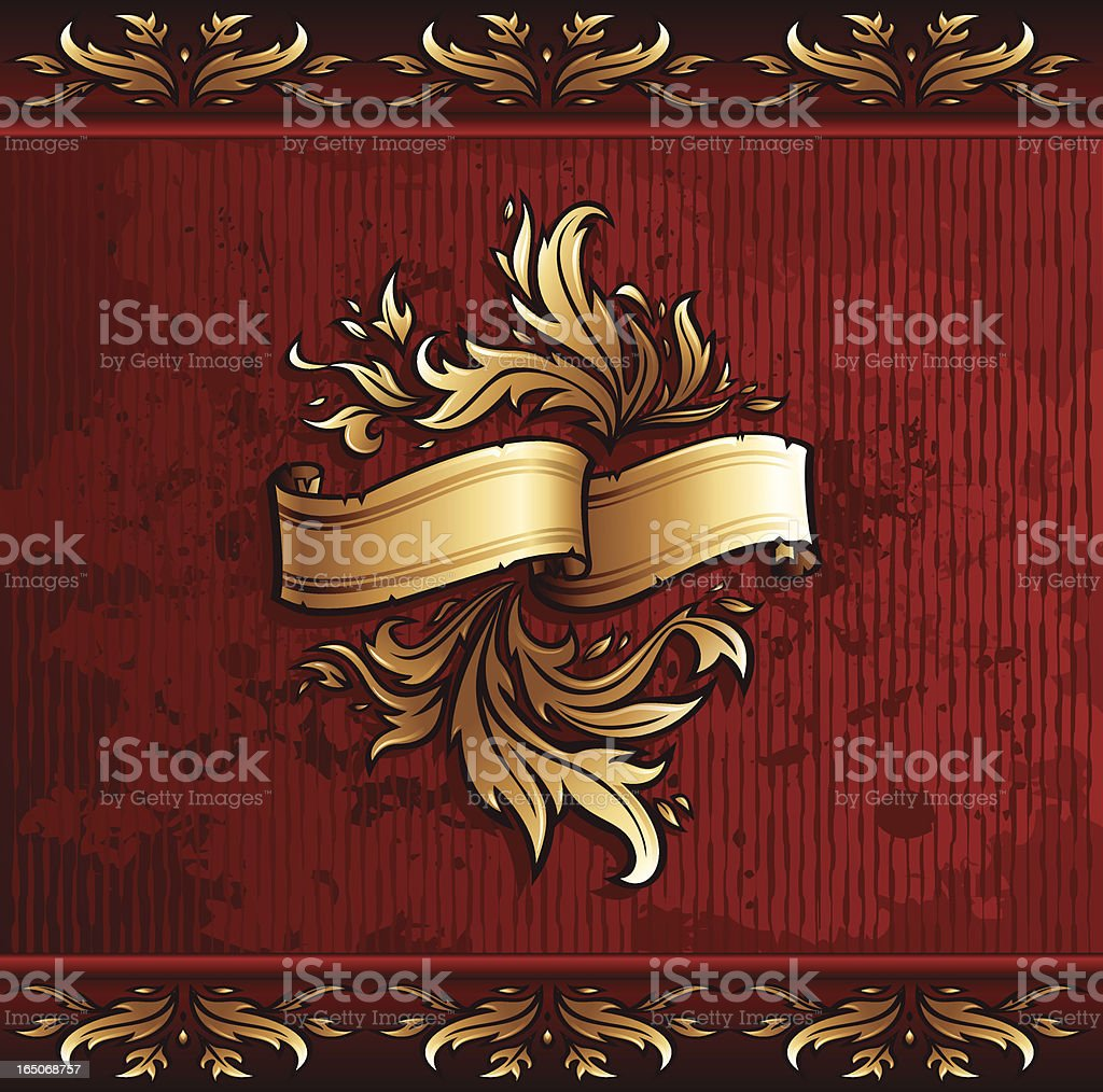 Golden Scroll royalty-free stock vector art