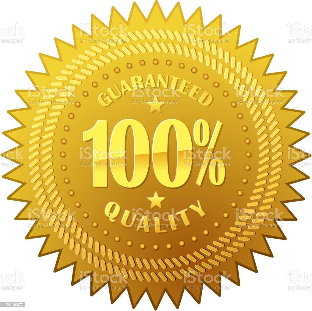 golden seal royalty-free stock vector art