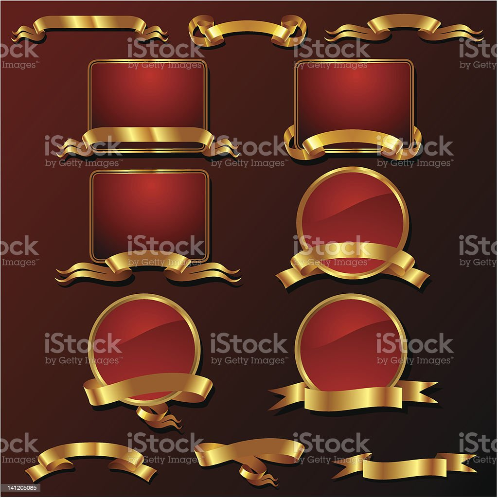 Golden Seals and Badge royalty-free stock vector art