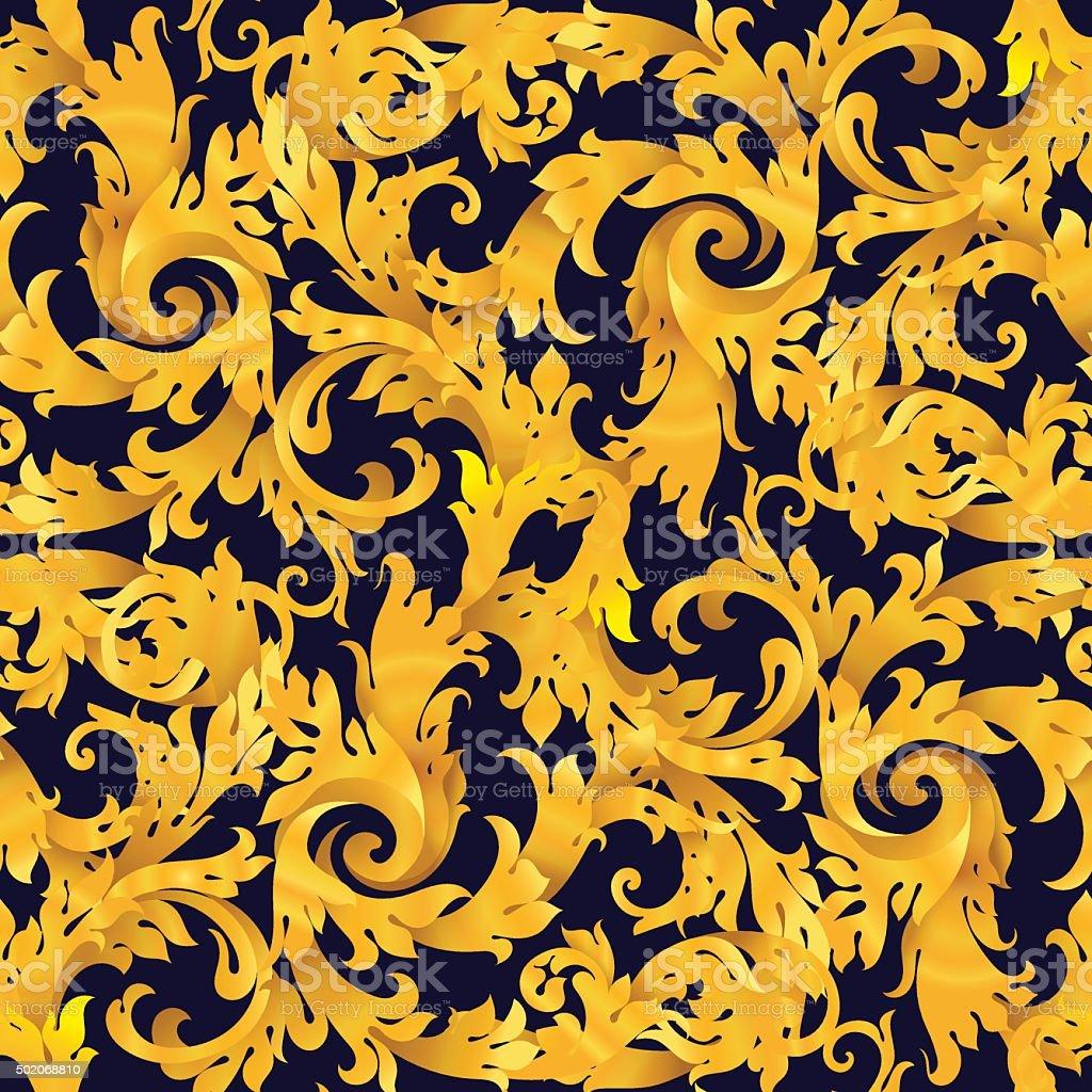 golden costuras vector victoriana fondo de estilo barroco decoracin libre de derechos libre