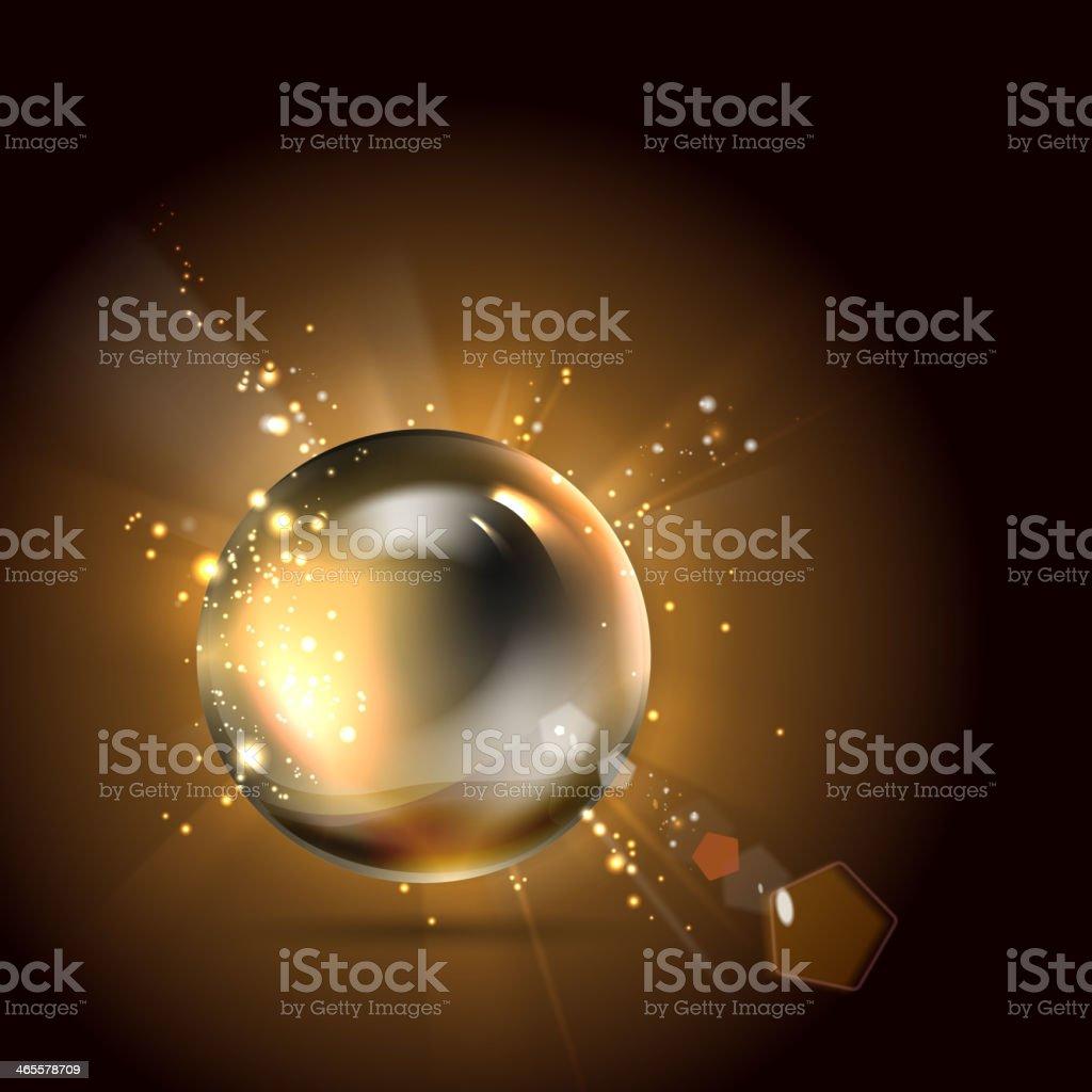 Golden shiny perl. royalty-free stock vector art