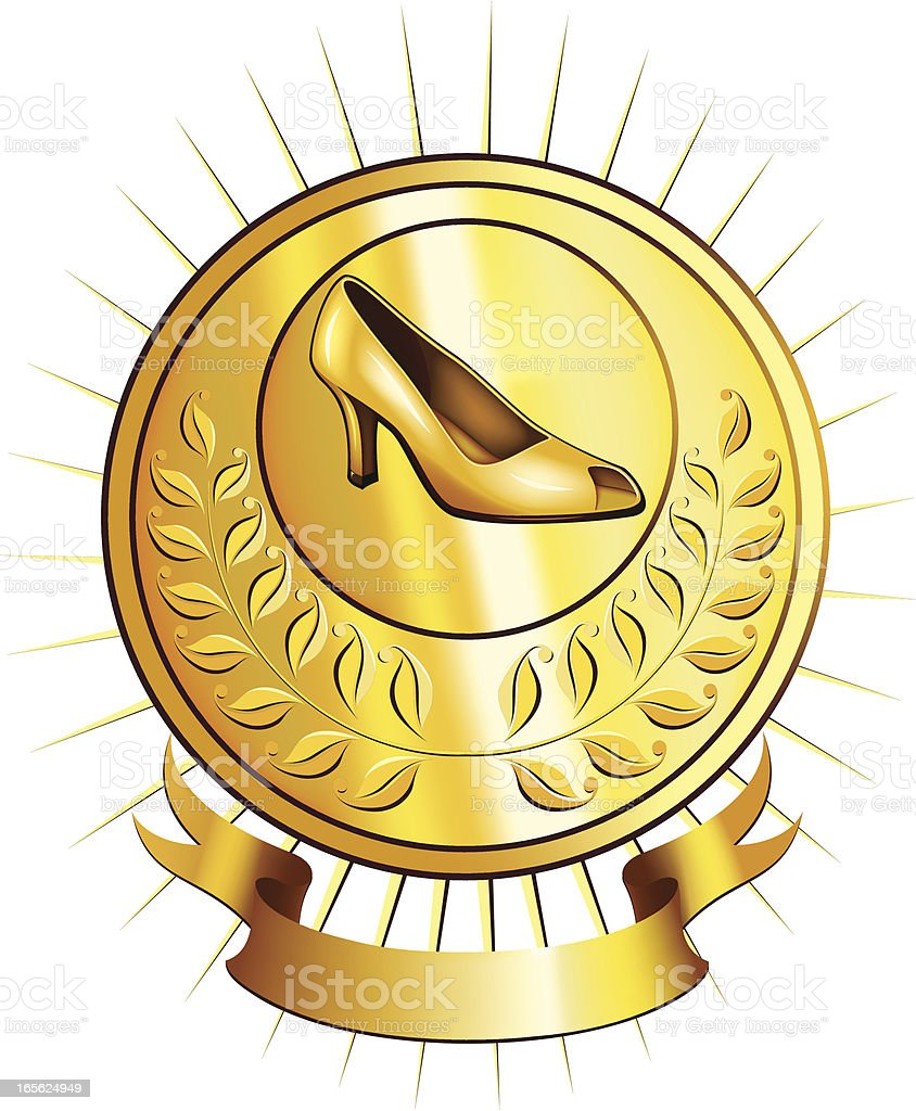 Golden shoes royalty-free stock vector art