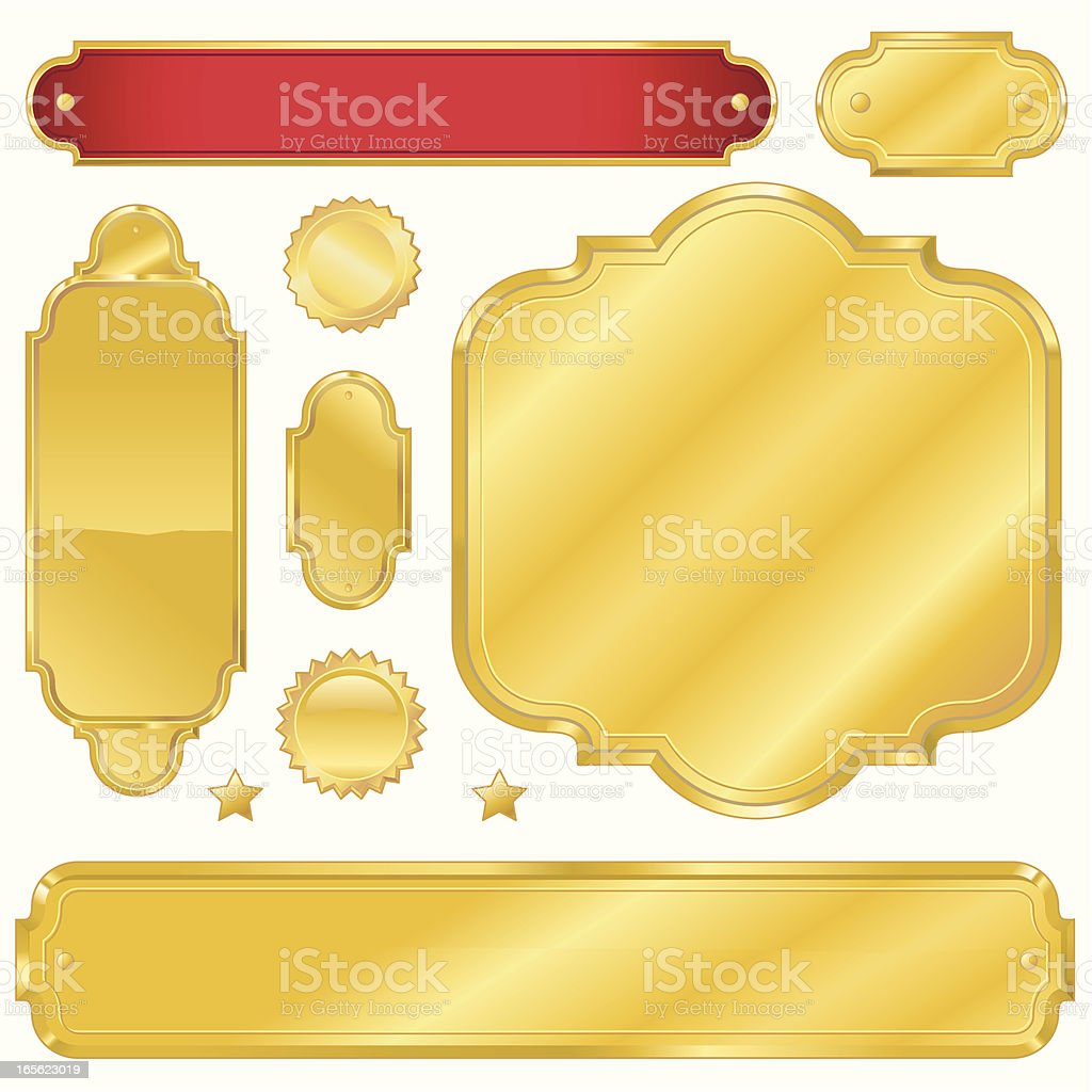 Golden Signs royalty-free stock vector art