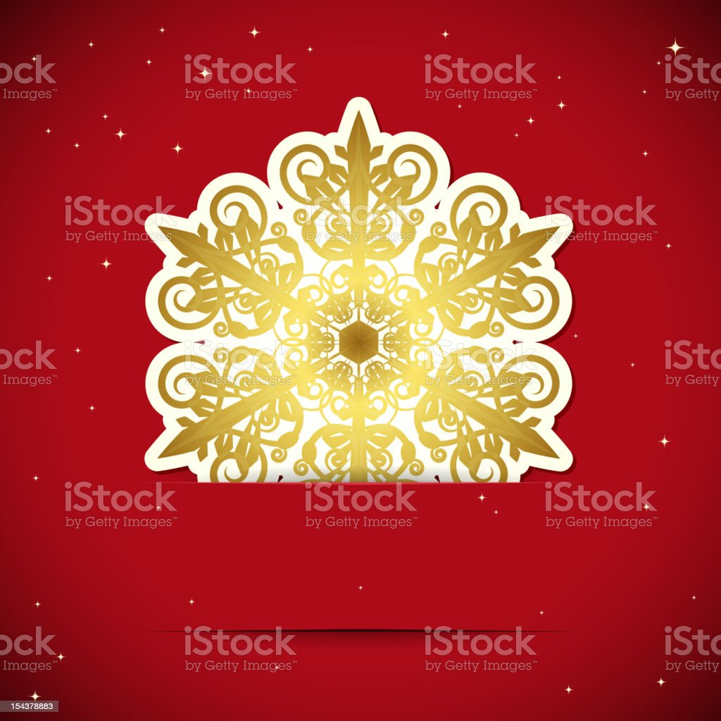 Golden snowflake royalty-free stock vector art