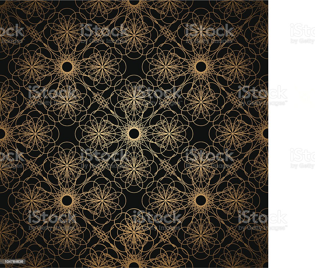 golden spiral background royalty-free stock vector art