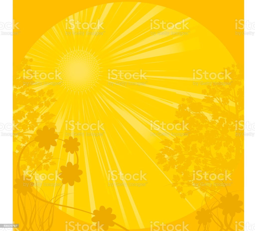 Golden spring landscape royalty-free stock vector art