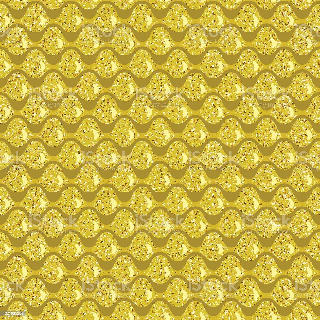 Golden squama vector art illustration