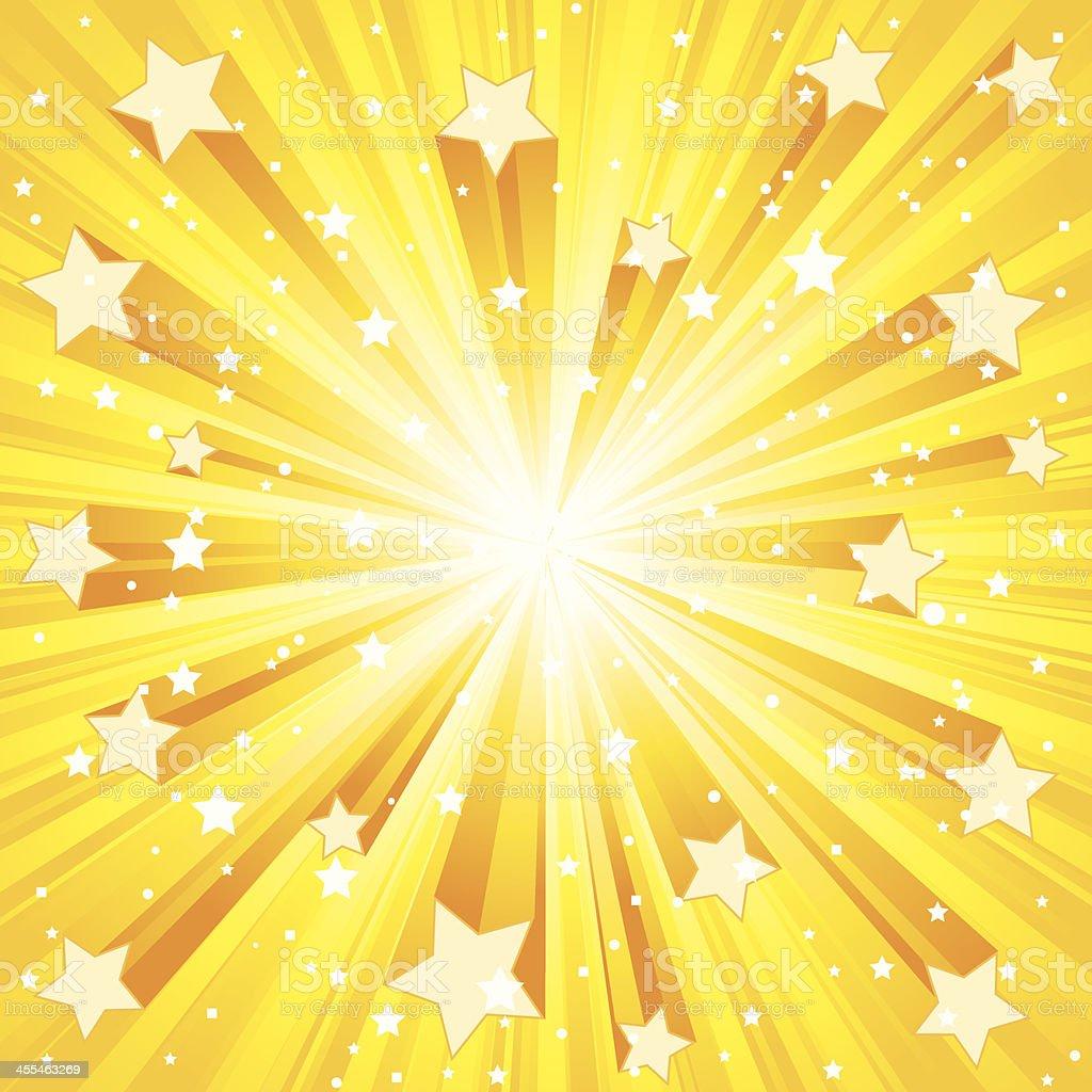 Golden Star Exploding royalty-free stock vector art
