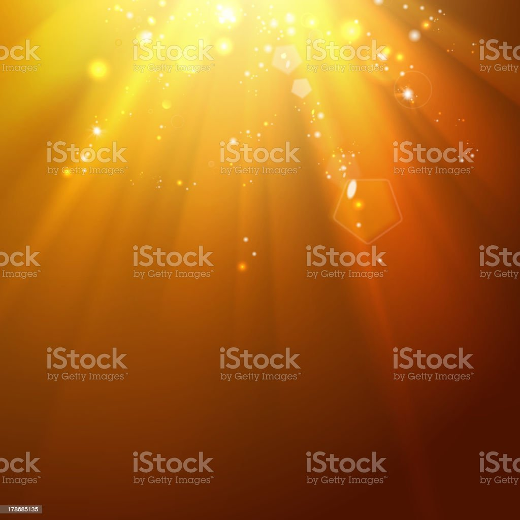 Golden stars backdrop with place for your text. royalty-free stock vector art