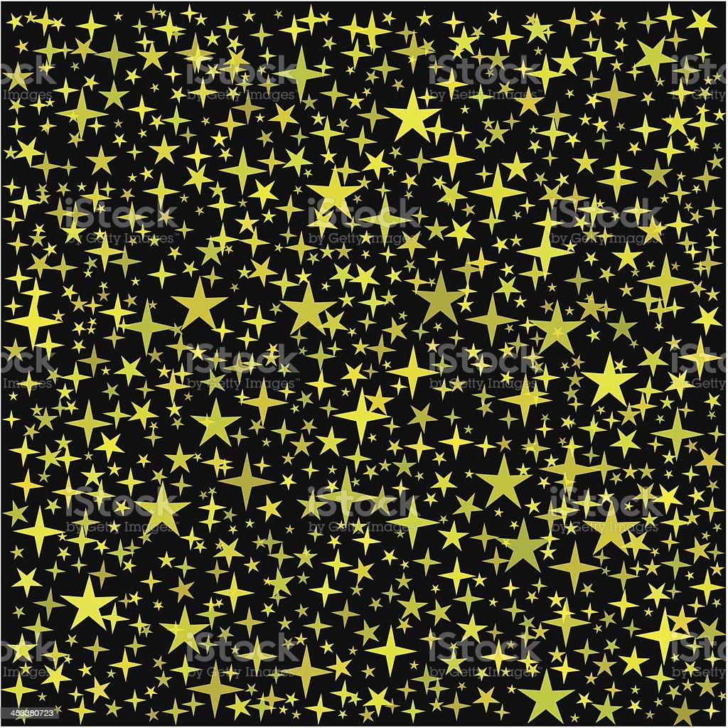 Golden Stars Background royalty-free stock vector art