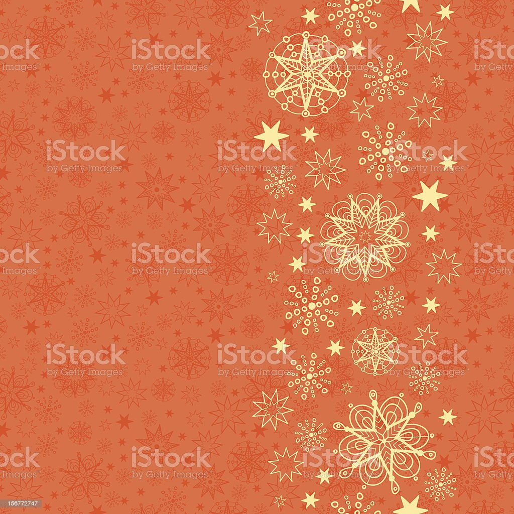 Golden Stars Ornament and Seamless Pattern Set royalty-free stock vector art