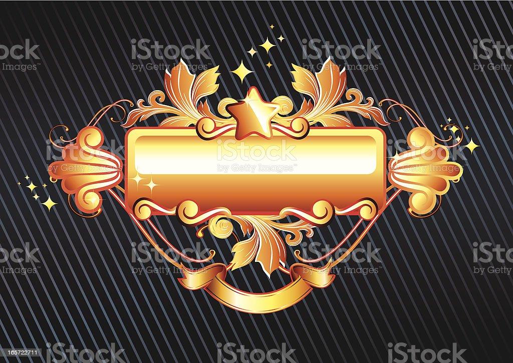 Golden tag vector art illustration