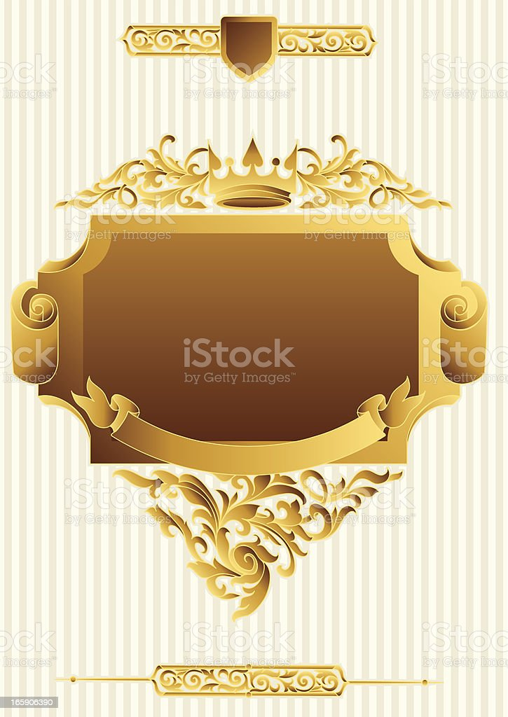 Golden tag royalty-free stock vector art