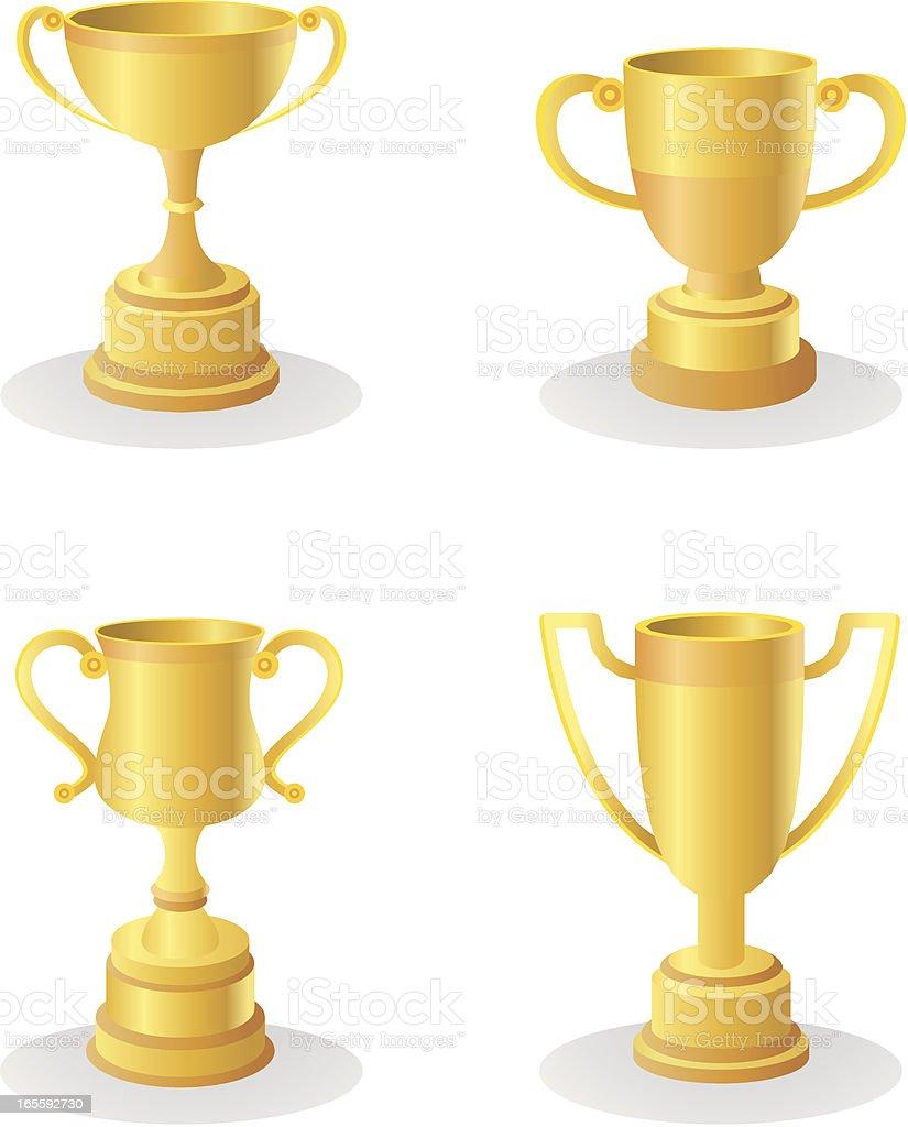 Golden trophies royalty-free stock vector art