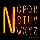 Golden vector alphabet.  Original symbol.