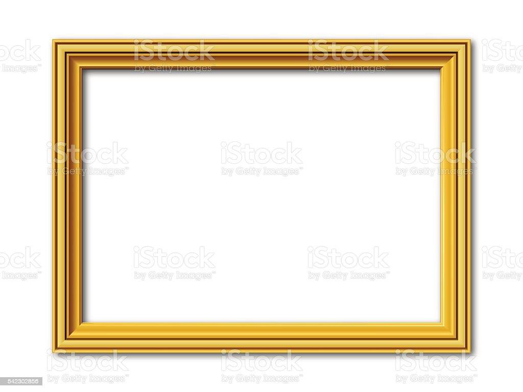 golden vector frame isolated on white vector art illustration