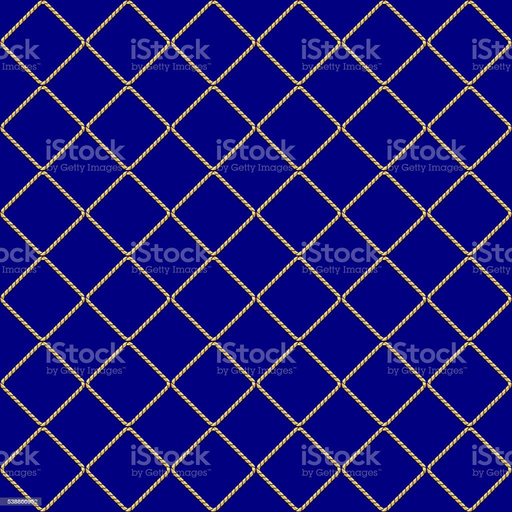 golden weaving seamless pattern vector art illustration