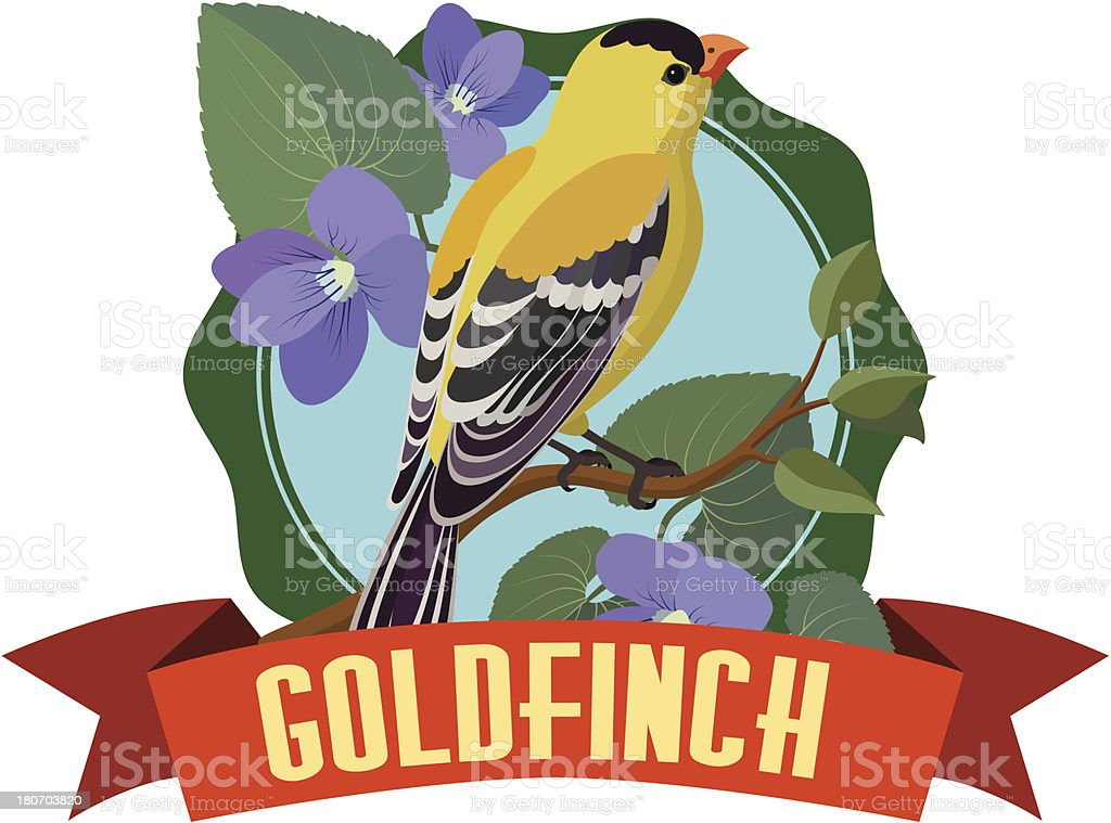goldfinch royalty-free stock vector art
