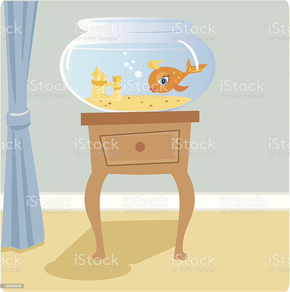 Goldfish Bowl vector art illustration