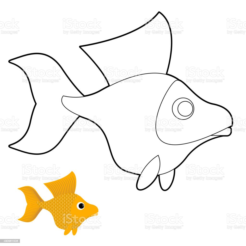Colour it sew it trace it etc disney coloring pages for Colorful fish book
