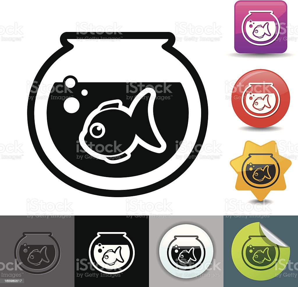 Goldfish icon | solicosi series vector art illustration