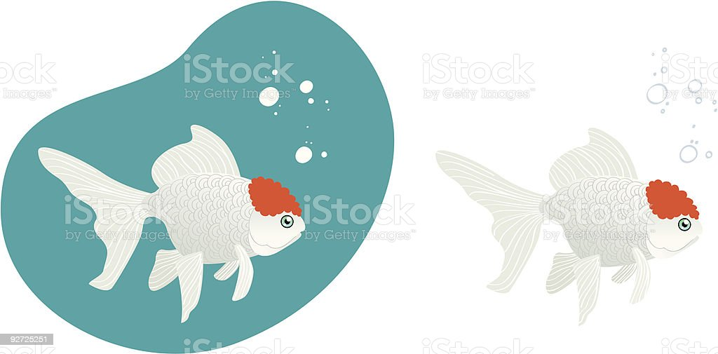 Goldfish royalty-free stock vector art