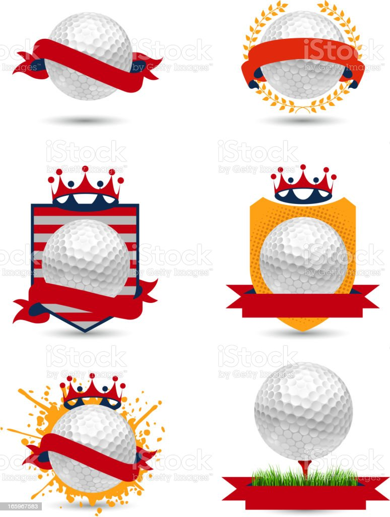Golf American emblems royalty-free stock vector art
