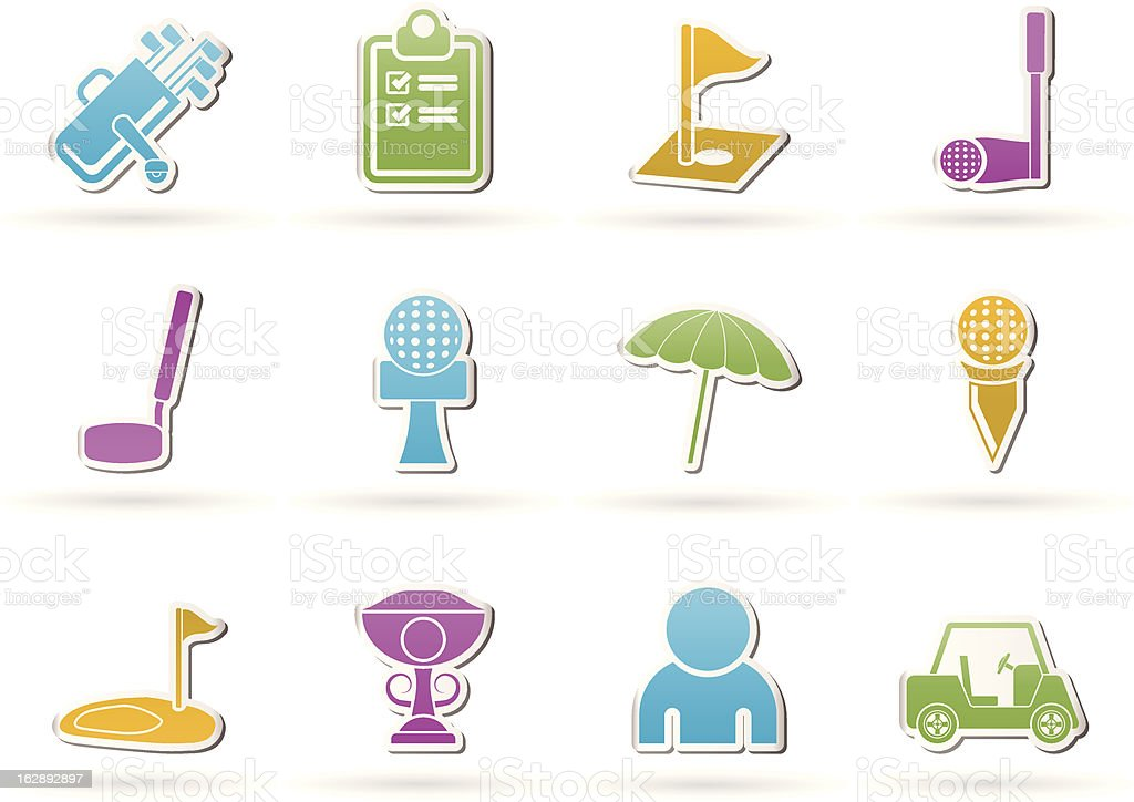 golf and sport icons royalty-free stock vector art