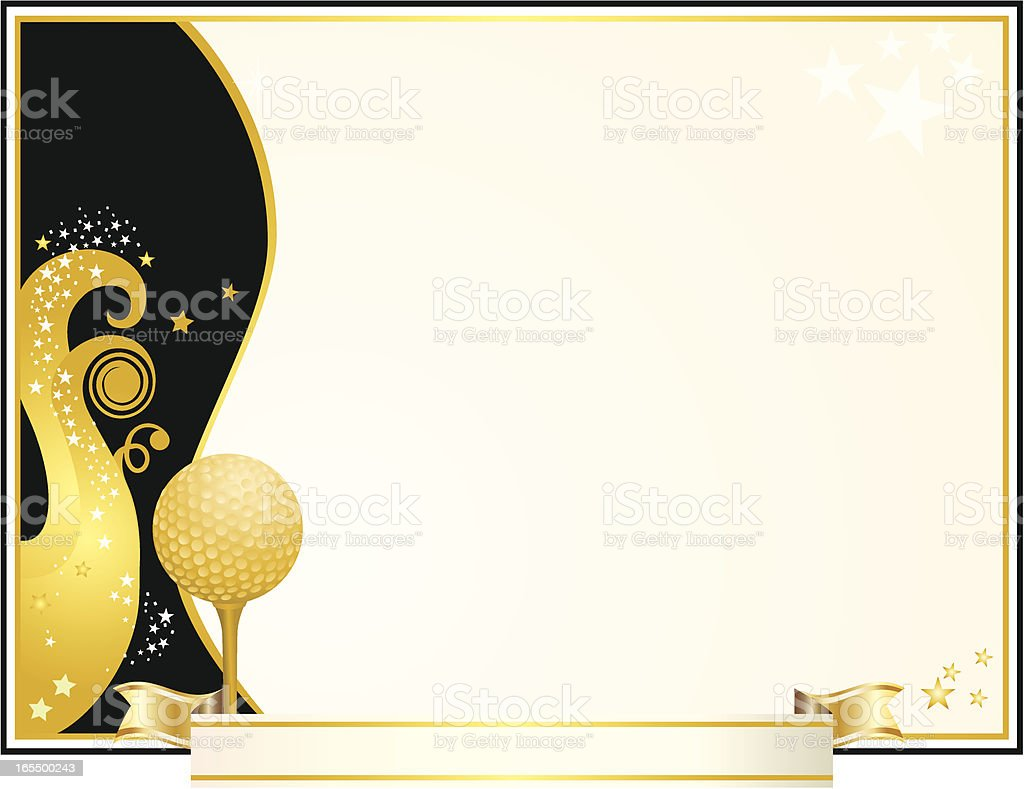 Golf Award Certificate royalty-free stock vector art