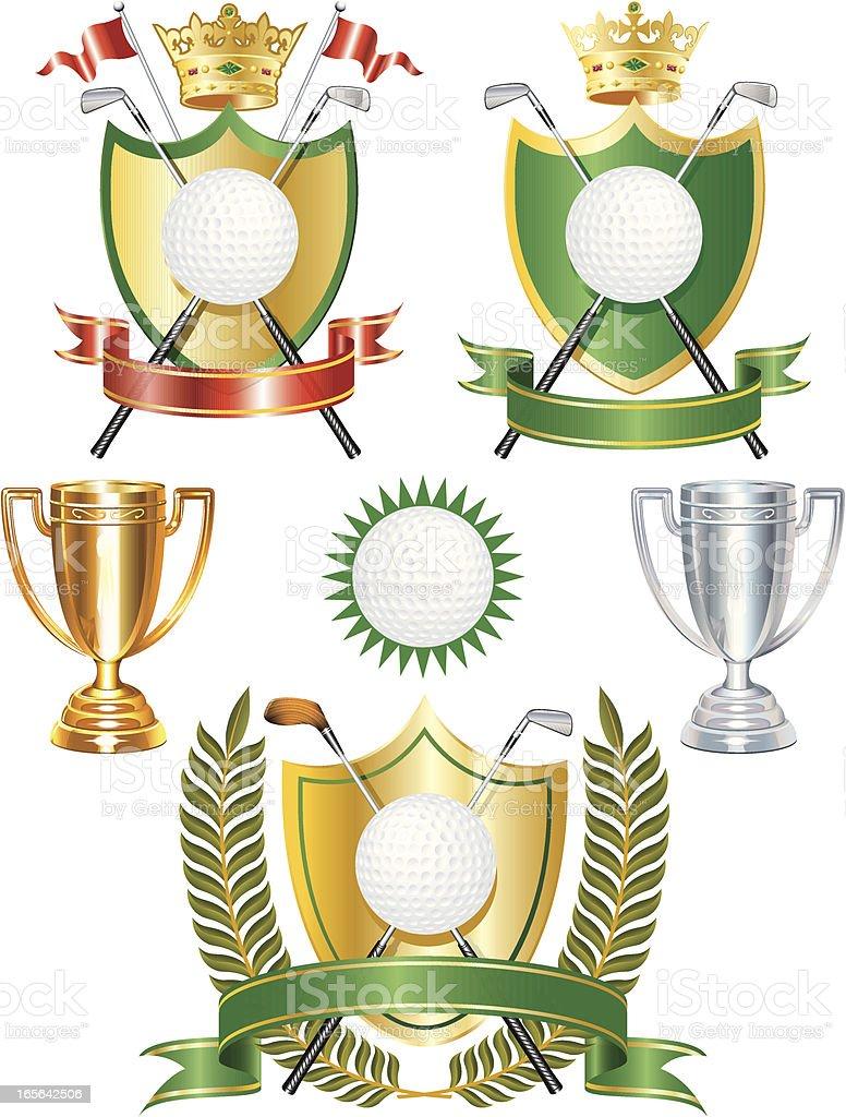 Golf Awards royalty-free stock vector art