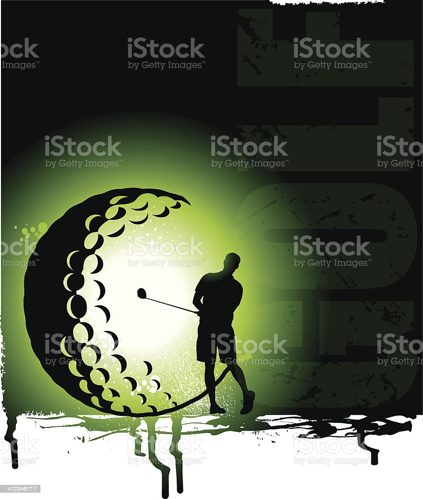 Golf Background - Golfer royalty-free stock vector art