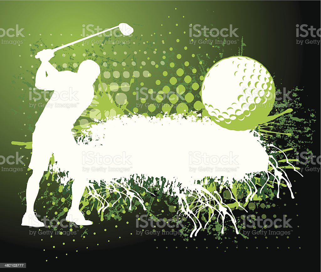 Golf background - Grunge Style royalty-free stock vector art