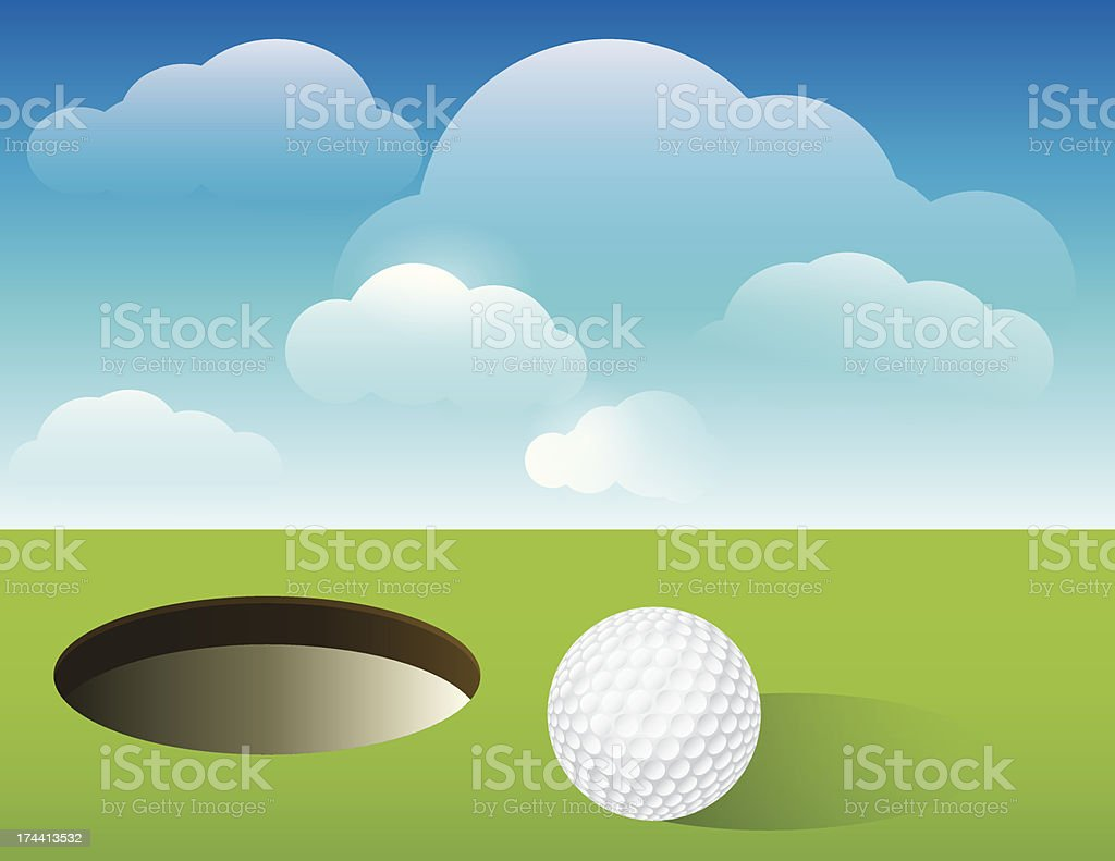 Golf Background Putting Green vector art illustration