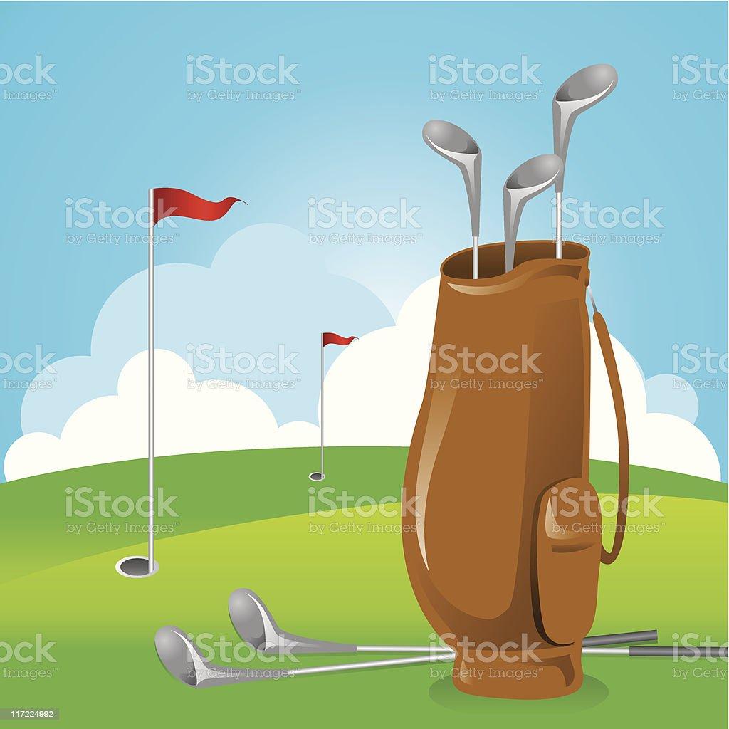 Golf Bag royalty-free stock vector art